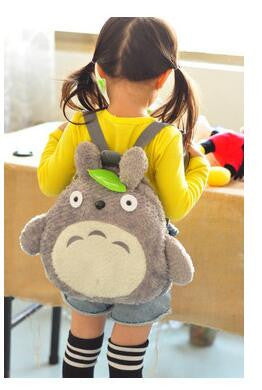 Green Leaf Backpacks Cute Totoro  Soft Plush Kids Children - Cute Totoro: My Neighbor Totoro