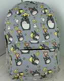 Totoro backpack Printing Canvas Korean Styles - Cute Totoro: My Neighbor Totoro