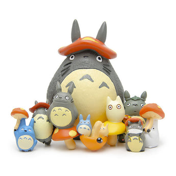 9pcs/lot Totoro Figure Set Action Decoration - Cute Totoro: My Neighbor Totoro