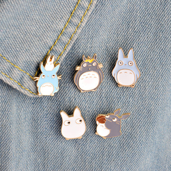 5pcs/set TOTORO Enamel Pins and Brooches Jewelry - Cute Totoro: My Neighbor Totoro