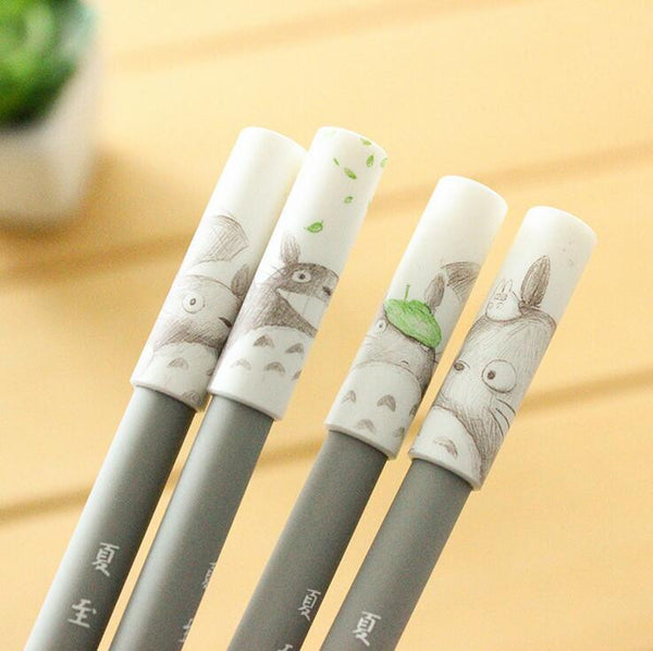 Totoro Gel Ink Pen Novelty set 4pc - Cute Totoro: My Neighbor Totoro