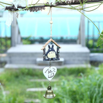 Totoro Wooden House Wind Chime Bells home decor - Cute Totoro: My Neighbor Totoro