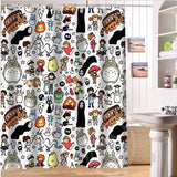 Totoro Ghibli Custom Shower Curtain Bathroom Home Decor - Cute Totoro: My Neighbor Totoro
