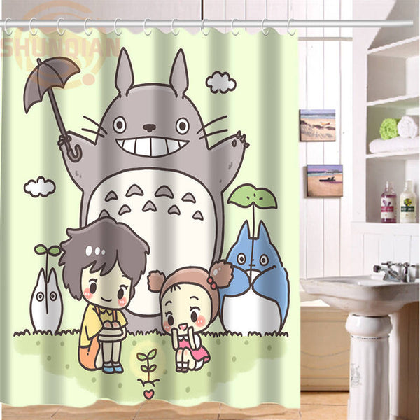 ... Totoro Ghibli Custom Shower Curtain Bathroom Home Decor   Cute Totoro:  My Neighbor Totoro ...