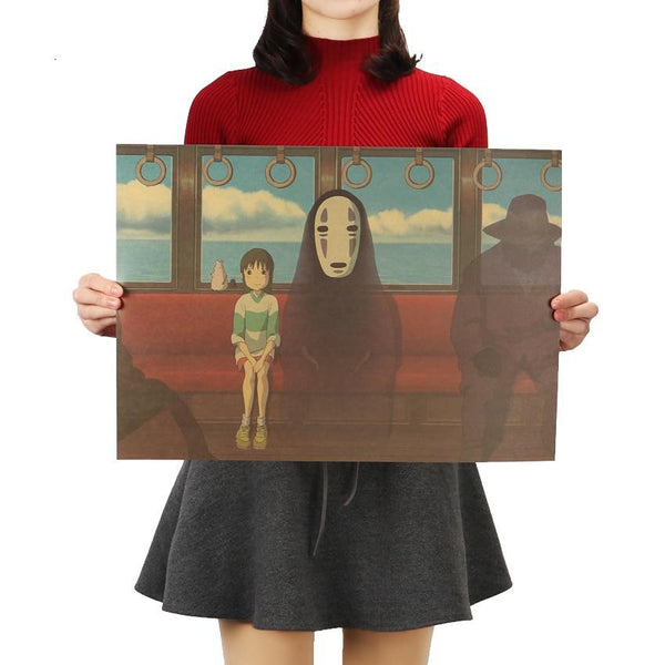 Spirited Away No Face Kraft Paper Poster 51.5X36cm - Cute Totoro: My Neighbor Totoro