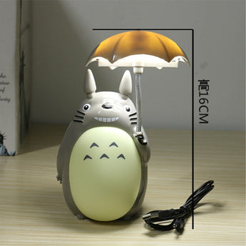 Kawaii Cartoon My Neighbor Totoro Umbrella Lamp Led Night Light USB Reading Table Desk Lamps for Kids Gift Home Decor Novelty - Cute Totoro: My Neighbor Totoro