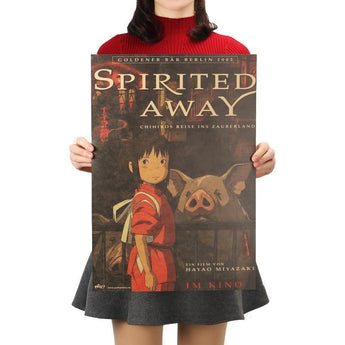 Spirited Away Kraft Paper Poster 51.5X36cm - Cute Totoro: My Neighbor Totoro