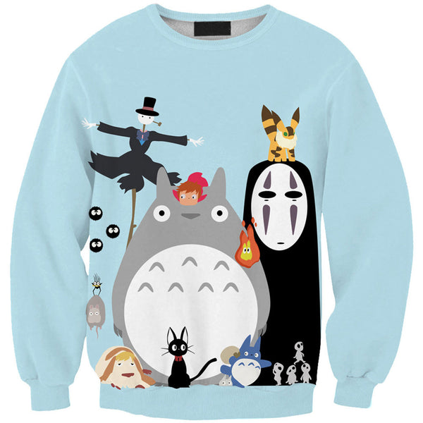 Ghibli Collection Sweatshirts - Cute Totoro: My Neighbor Totoro