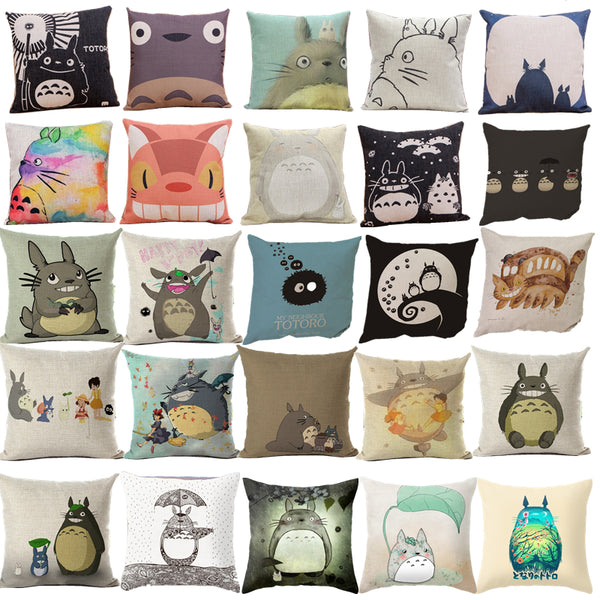 Totoro Pillows Cover Decorative - Cute Totoro: My Neighbor Totoro