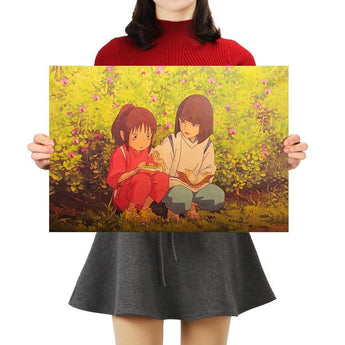 Spirited Away Kraft Paper Poster 51*35.5cm - Cute Totoro: My Neighbor Totoro