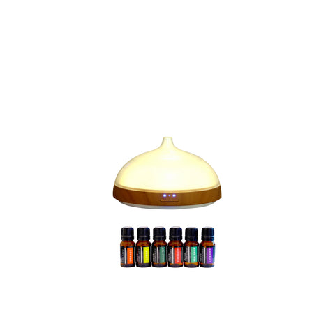 Euro Style Collection Ultrasonic 100ml Oil Diffuser with LED Light & 5 Essential Oils