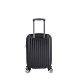 Euro Style Collection Ibiza 3Pcs Luggage Sets Travel Bag ABS Trolley Spinner Suitcase Black