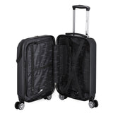 Euro Style Collection Ibiza 3-piece Hardcase Spinner Luggage Set-Black
