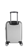 Euro Style Collection Ibiza Luggage Travel Bag ABS Trolley Spinner Suitcase Silver