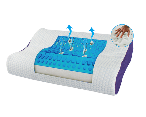 Euro Style Collection Super Cooling Gel/Memory Foam Pillow