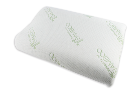 Euro Style Collection Premium Bamboo Contour Pillow with Memory Foam