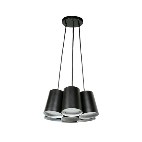 Euro Style Collection Barcelona 7-Bulb Cluster Ceiling Lamp-Black