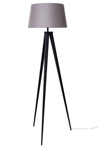 "Euro Style Collection Berlin 60"" Tripod Floor Lamp-Black/Grey"