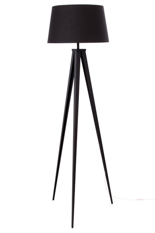 "Euro Style Collection Berlin 60"" Tripod Floor Lamp-Black/Black"