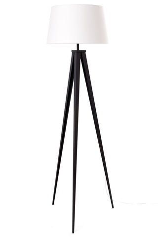 "Euro Style Collection Berlin 60"" Tripod Floor Lamp-Black/White"