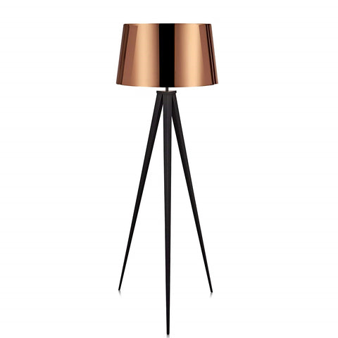 "Euro Style Collection Berlin 60"" Tripod Floor Lamp-Black/Copper"
