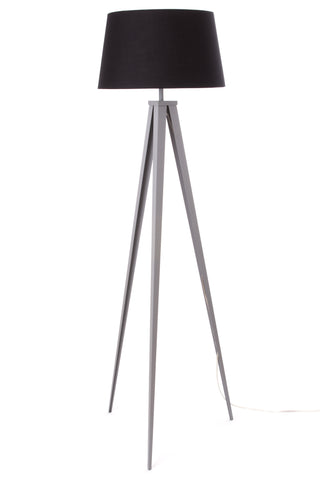 "Euro Style Collection Berlin 60"" Tripod Floor Lamp-Grey/Black"