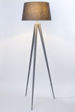 "Euro Style Collection Berlin 60"" Tripod Floor Lamp-Grey/Grey"