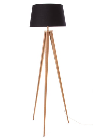 "Euro Style Collection Berlin 60"" Tripod Floor Lamp-Wood/Black"