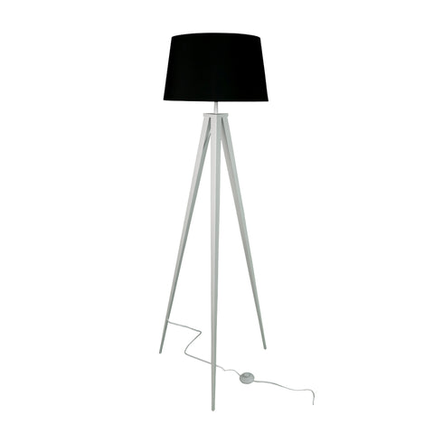 "Euro Style Collection Berlin 60"" Tripod Floor Lamp-White/Black"