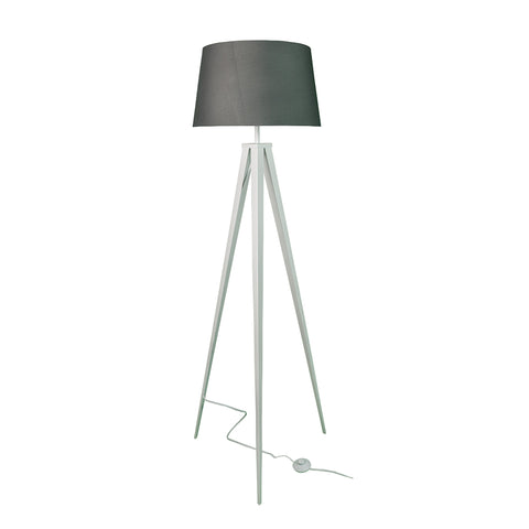 "Euro Style Collection Berlin 60"" Tripod Floor Lamp-White/Grey"