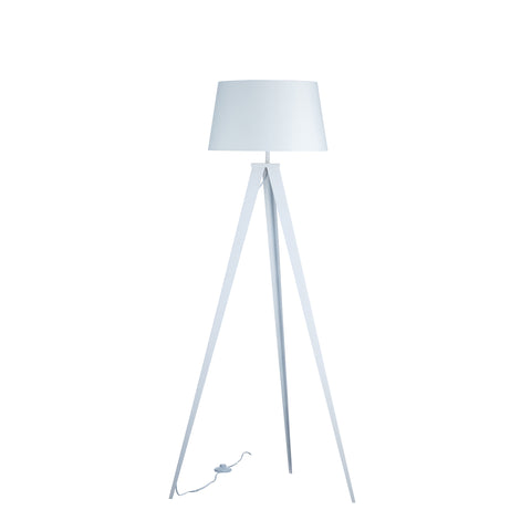 "Euro Style Collection Berlin 60"" Tripod Floor Lamp-White/White"