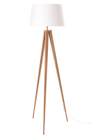 "Euro Style Collection Berlin 60"" Tripod Floor Lamp-Wood/White"