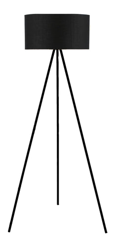 "Euro Style Collection Braga 61"" Inches Tripod Floor Lamp (Black)"