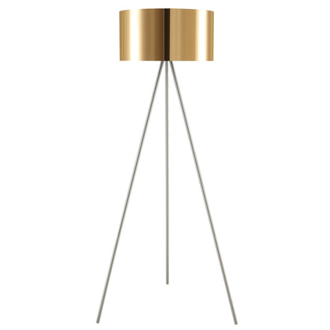 "Euro Style Collection Braga 61"" Tripod Floor Lamp-Copper"
