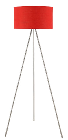 "Euro Style Collection Braga 61"" Tripod Floor Lamp-Red"