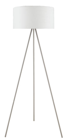 "Euro Style Collection Braga 61"" Tripod Floor Lamp-White"