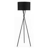 "Euro Style Collection Faro 63"" Tripod Floor Lamp-Black"