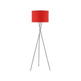 Euro Style Collection Lisboa Floor Lamp w/ Fabric Lampshade (Tall) Modern, Minimalist Tripod Standing Light | Living Room, Bedroom, Office | Red