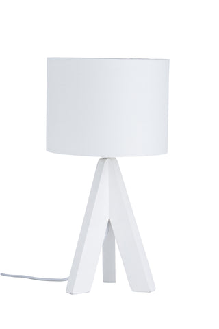 "Euro Style Collection Askos 12"" Mini Table Lamp-White (Wood Legs)"