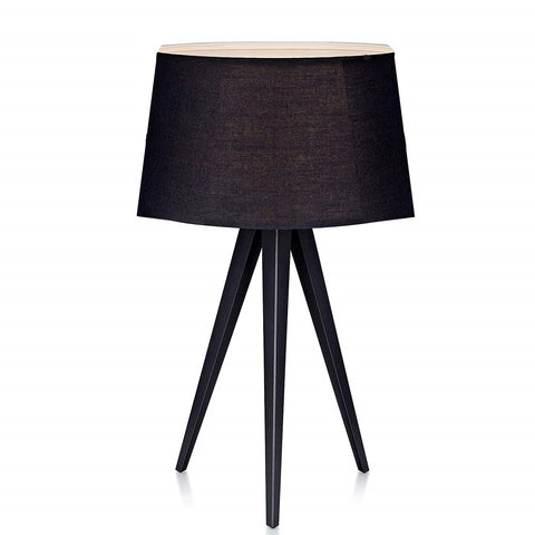 "Euro Style Collection Berlin 20"" Tripod Table Lamp-Black/Copper/White"