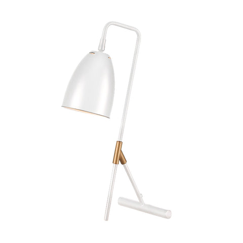 "Euro Style Collection Copenhagen 18"" Modern Table Lamp-White"