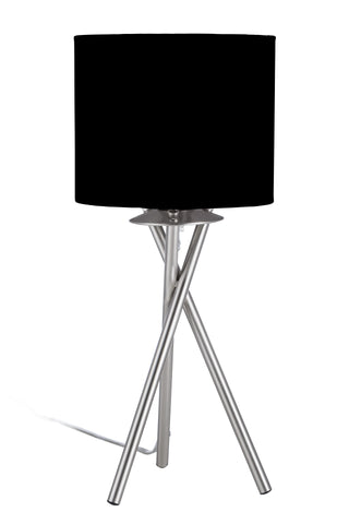 "Euro Style Collection Lisboa Mini 15"" Table Lamp-Black"