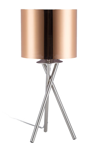 "Euro Style Collection Lisboa Mini 15"" Table Lamp-Copper"