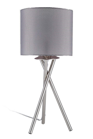 "Euro Style Collection Lisboa Mini 15"" Table Lamp-Mesh"
