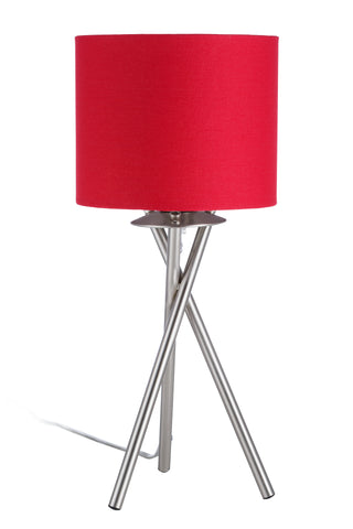 "Euro Style Collection Lisboa Mini 15"" Table Lamp-Red"
