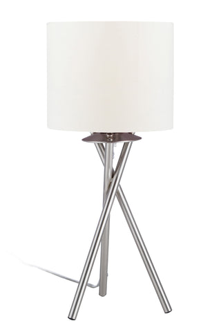 "Euro Style Collection Lisboa Mini 15"" Table Lamp-White"