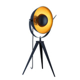"Euro Style Collection Madrid 25"" Studio Table Lamp-Black/Gold"