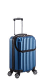 Euro Style Collection Ibiza  Luggage Travel Bag ABS Trolley Spinner Suitcase Blue