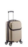 Euro Style Collection Ibiza 3-piece Hardcase Spinner Luggage Set-Champagne