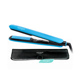 Xenia Paris Fairytale Bliss 1'' Silicone Grip Hair Straightening Flat Iron, Blue